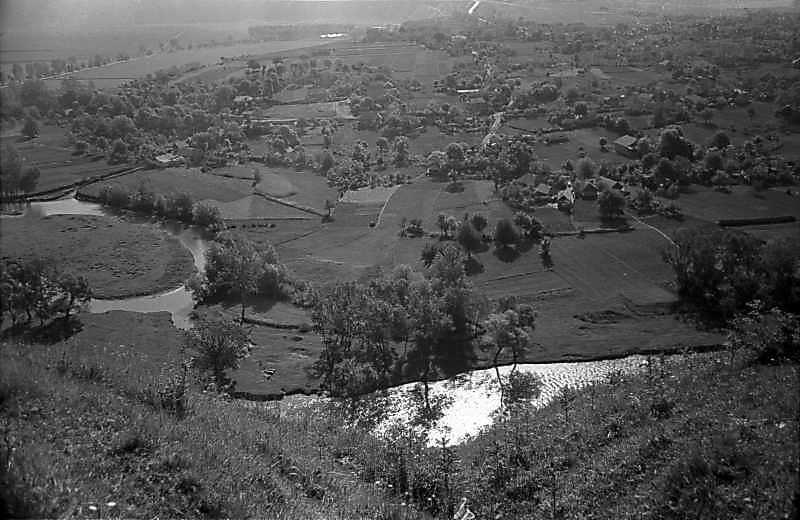 1978 р. Вид на Збруч з високого правого берега