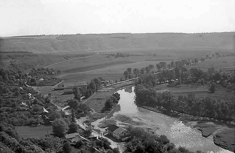 1978 р. Вид на долину на північ від Кудринець
