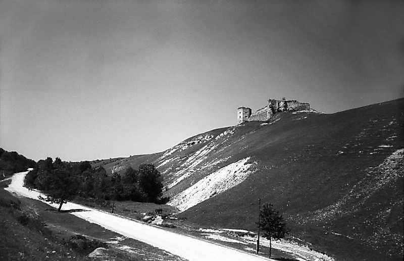 1978 р. Загальний вигляд яру та замку з півдня