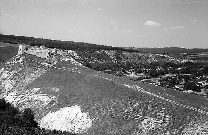 Замок і фрагмент лівобережного села