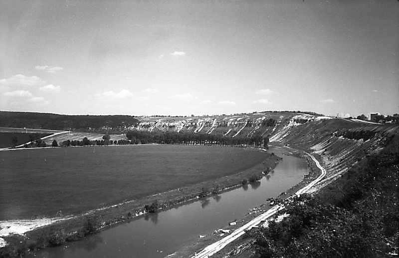 1978 р. Збруч вище села. Вигляд із заходу