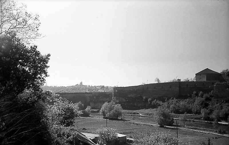 1979 р. Західна частина моста і мур над Смотричем. Вигляд з півночі