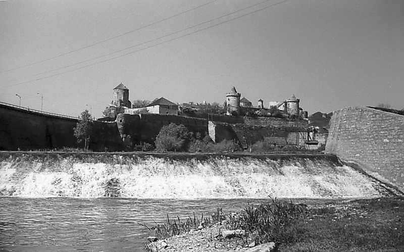 1979 р. Загата на Смотричі на тлі Старого замку