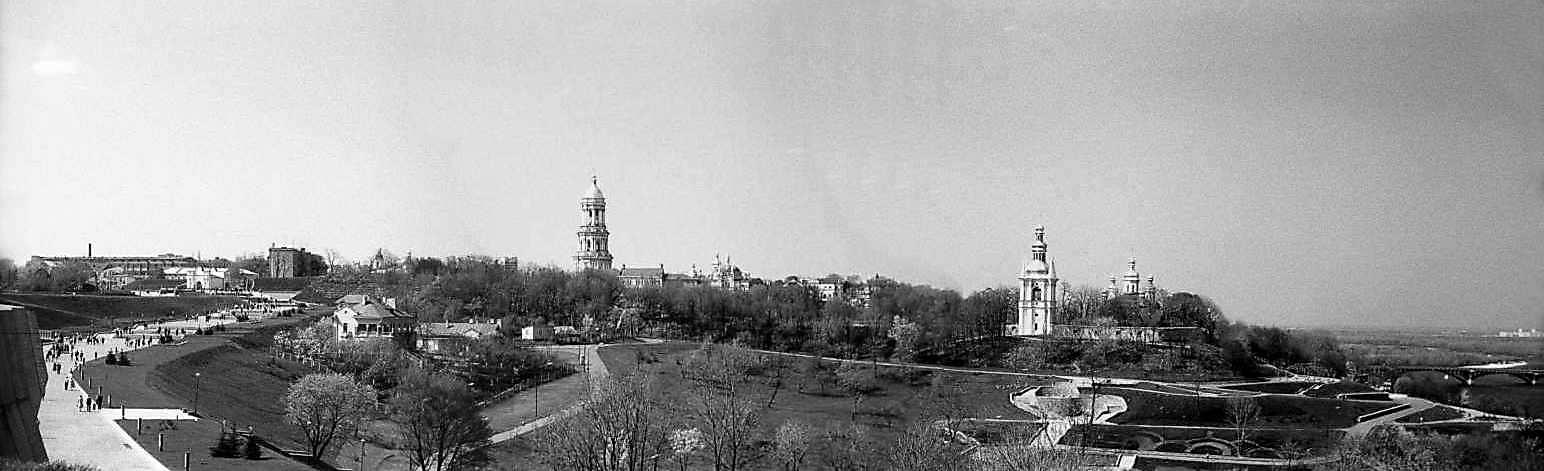 1983 р. Панорама Печерської фортеці та Києво-Печерської лаври з півдня