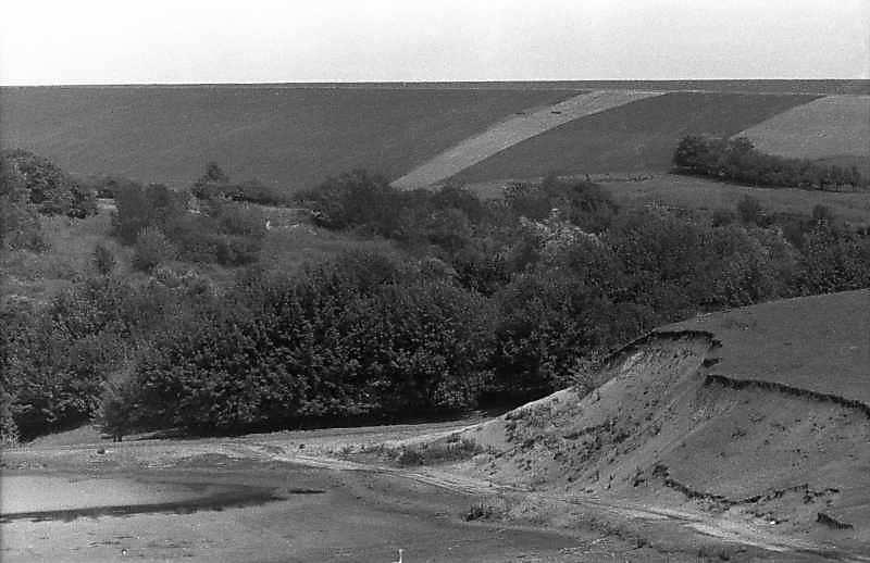 1983 р. Краєвид з балкою біля Кіровограда