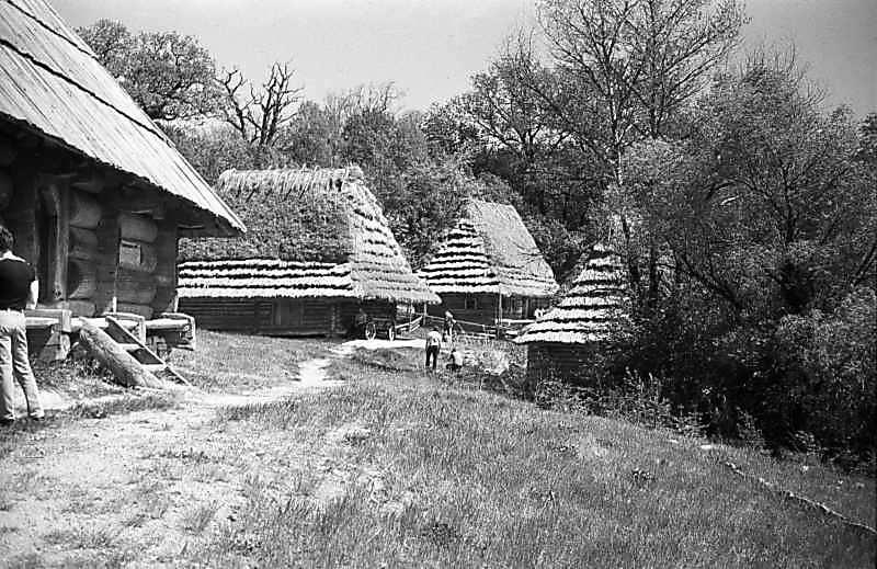 1984 р. Хата із Синевирської Поляни (6, фрагмент), стайна із Розтоки (8), хата із Рекіт ,9),…