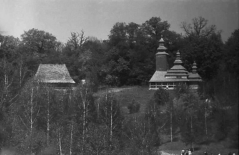 1984 р. Садиба із с.Рекіти і церква із Канори. Вигляд з півдня
