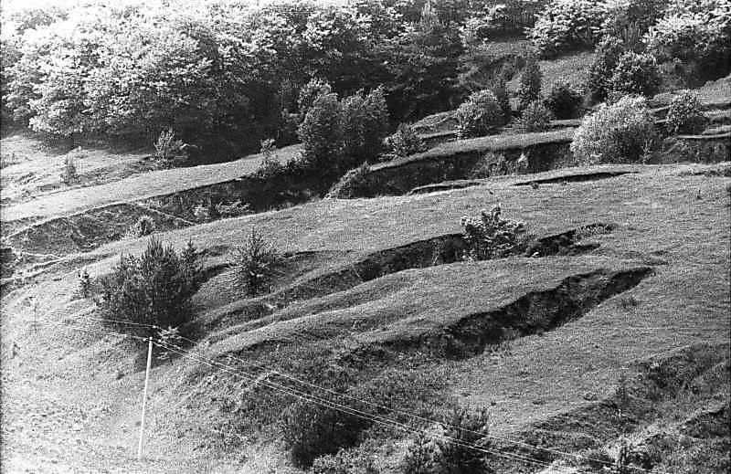 1984 р. Краєвид з ярами біля села