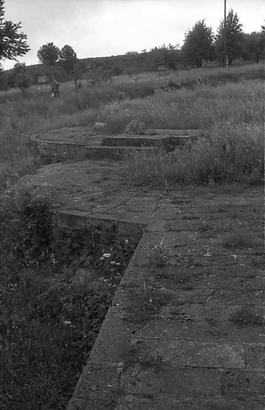 1988 р. Підмурки апсид. Вигляд з півночі