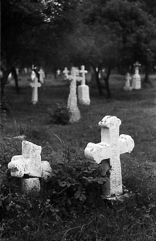 1988 р. Хрести на цвинтарі
