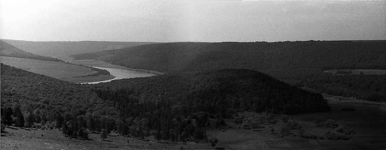 1988 р. Панорама Дністра і долини Стрипи