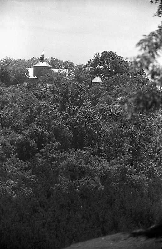 1988 р. Загальний вигляд церкви і дзвіниці від с.Жнибороди