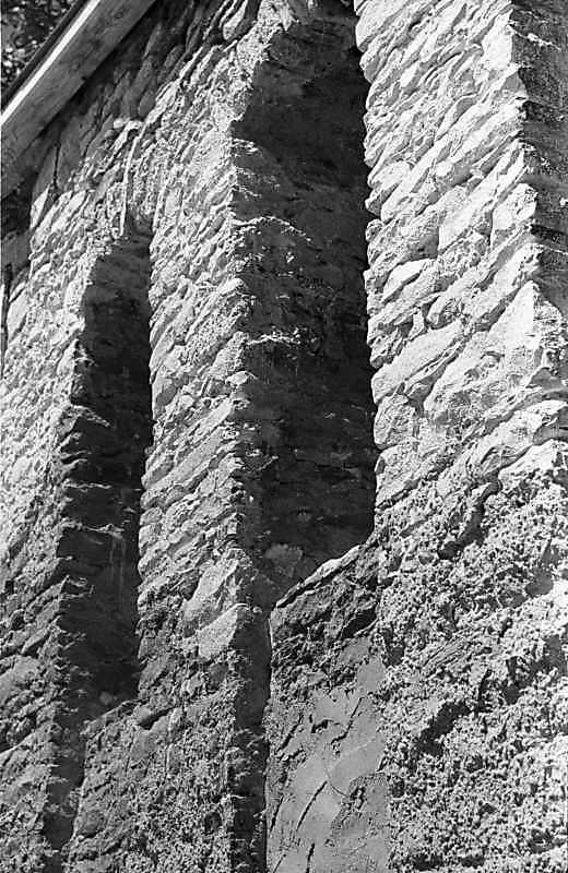 1988 р. Фрагмент кладки дзвіниці. Вигляд зі сходу