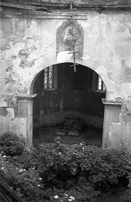 1988 р. Вид на вівтар з 3-го ярусу башти