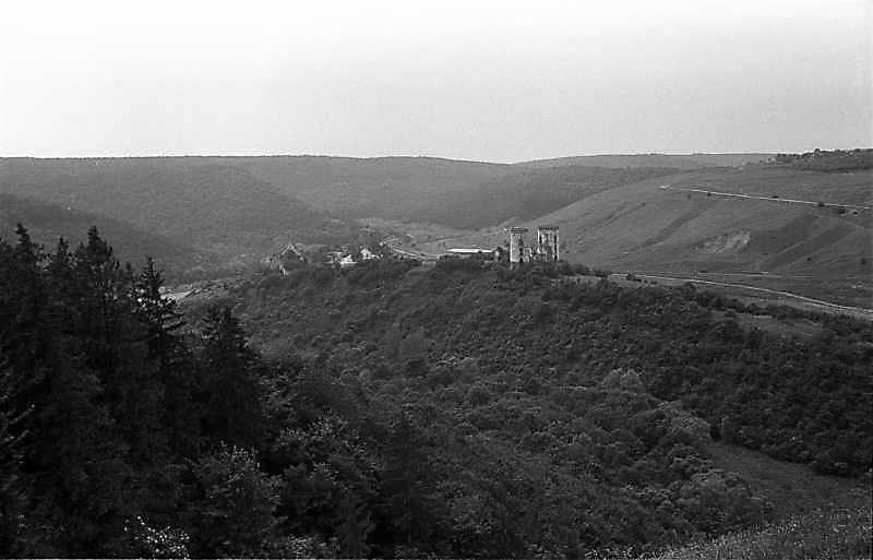 1988 р. Горб з палацом і костелом. Вигляд з південного сходу
