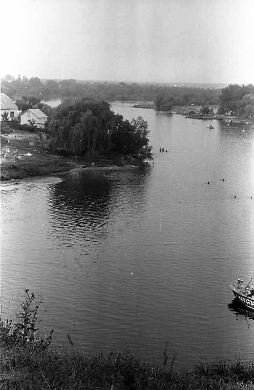 1988 р. Вид на Рось із Замкової гори