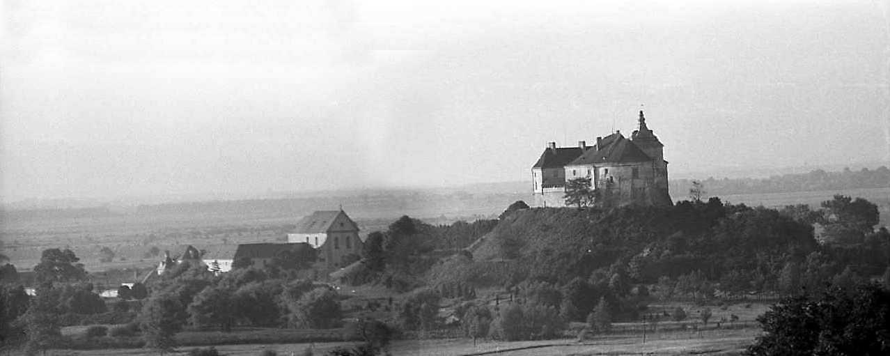 1988 р. Панорама кляштора і замку з…