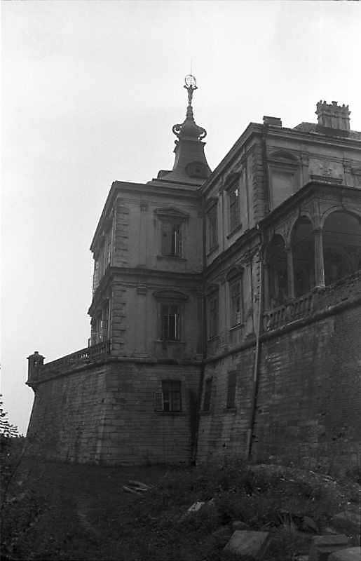 1988 р. Західний рів, північно-західний бастіон і фрагмент палацу. Вигляд з півдня