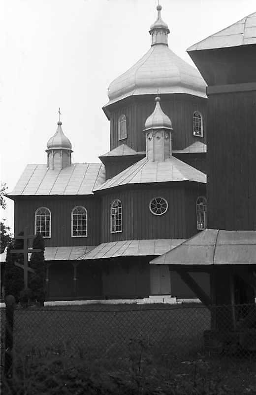 1989 р. Церква і фрагмент дзвіниці.…