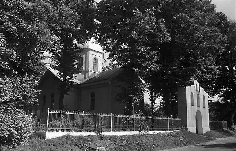 1989 р. Церква і дзвіниця. Вигляд з північного заходу