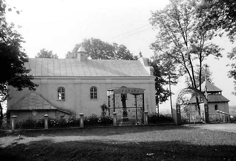 1989 р. Церква і дзвіниця. Вигляд з…