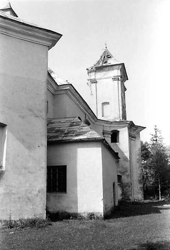1989 р. Бічний фасад. Вигляд з позиції С1