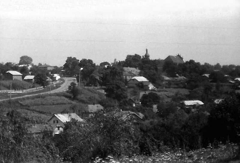 1989 р. Вид на містечко від с.Нагірянка