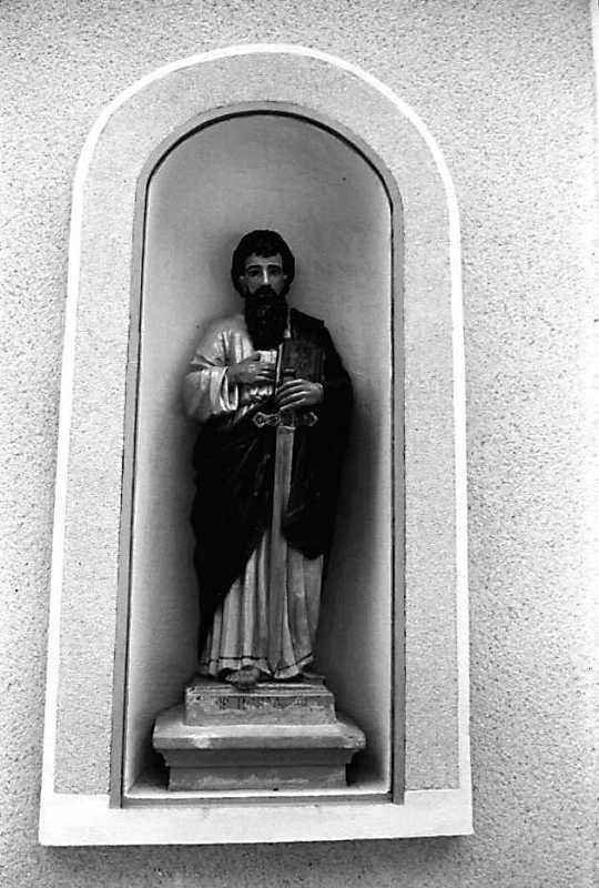 1989 р. Скульптура апостола Павла в ніші головного фасад