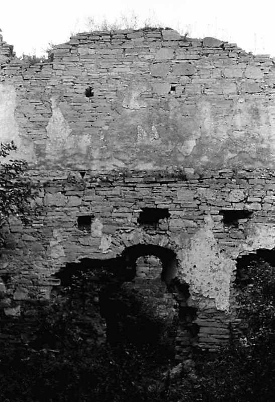 1989 р. Фрагмент муру 10. Вигляд із заходу
