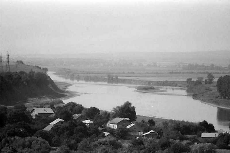 1990 р. Вид на Дністер від замку