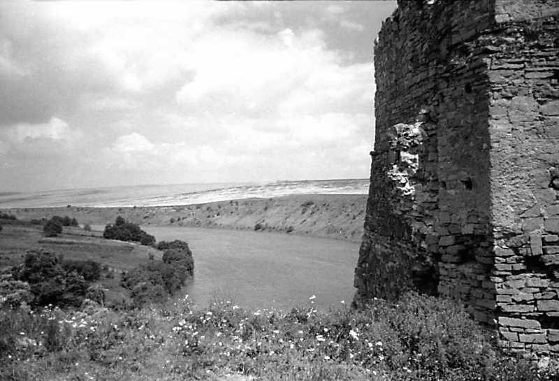 1991 р. Фрагмент башти на тлі…