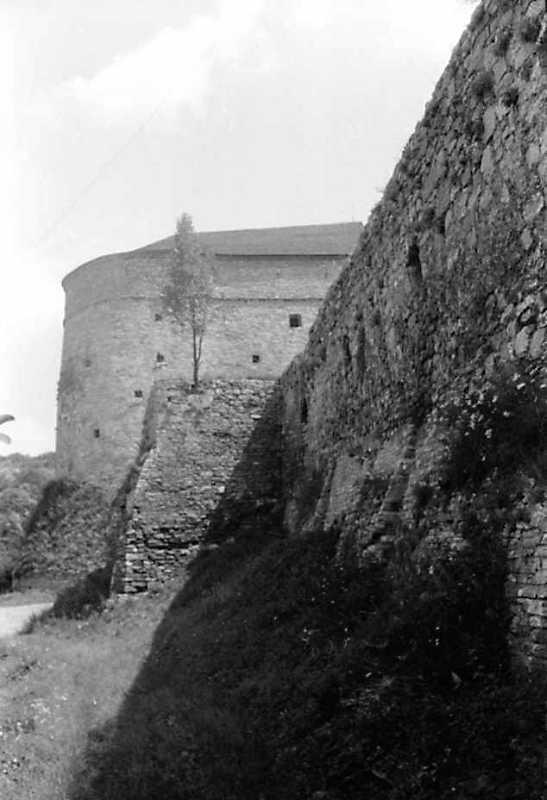 1991 р. Кушнірська башта і оборонний мур. Вигляд із заходу
