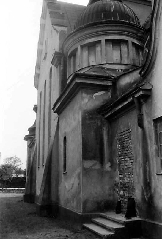 1991 р. Бічний фасад в ракурсі. Вигляд з позиції С1