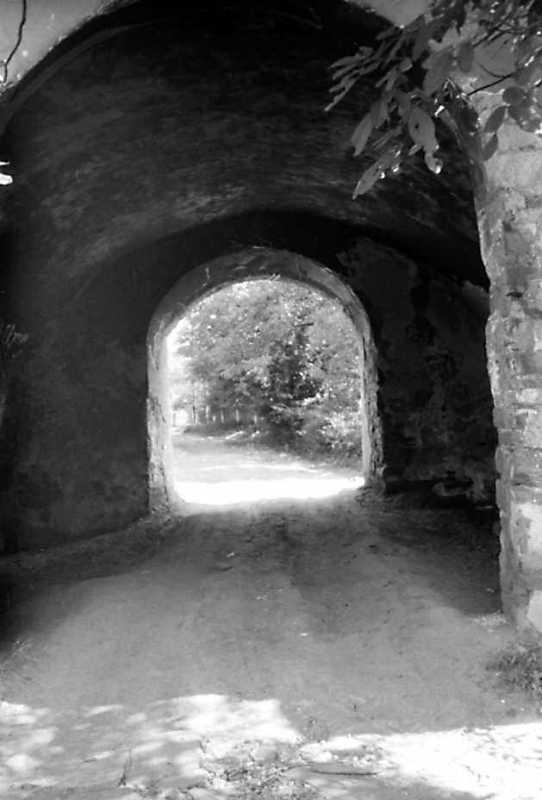 1991 р. Проїзд надбрамної башти. Вигляд з південного заходу, з подвір'я