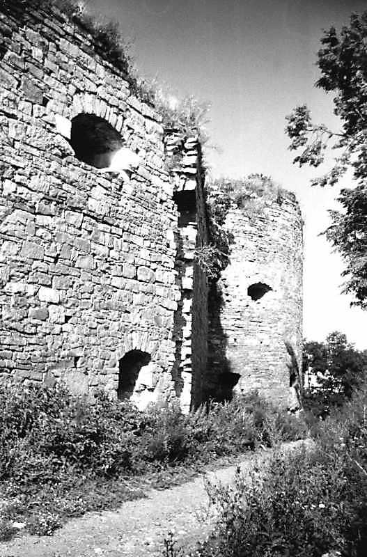 1991 р. Куртини 6, 5 і башта 4. Вигляд з південного заходу