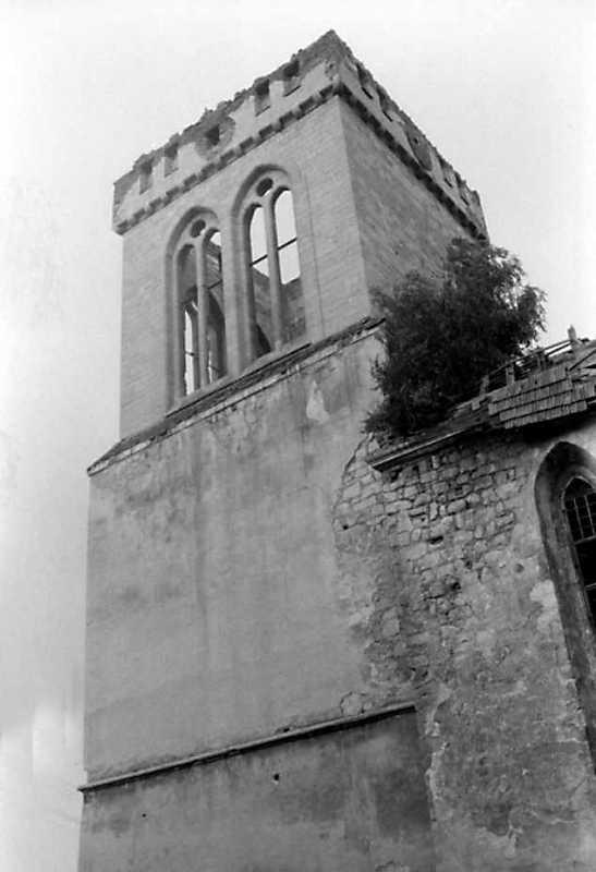 1991 р. Башта в ракурсі. Вигляд з південного сходу