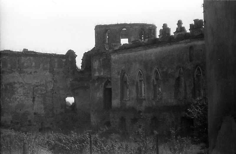 1992 р. Східна башта і палац. Вигляд із заходу