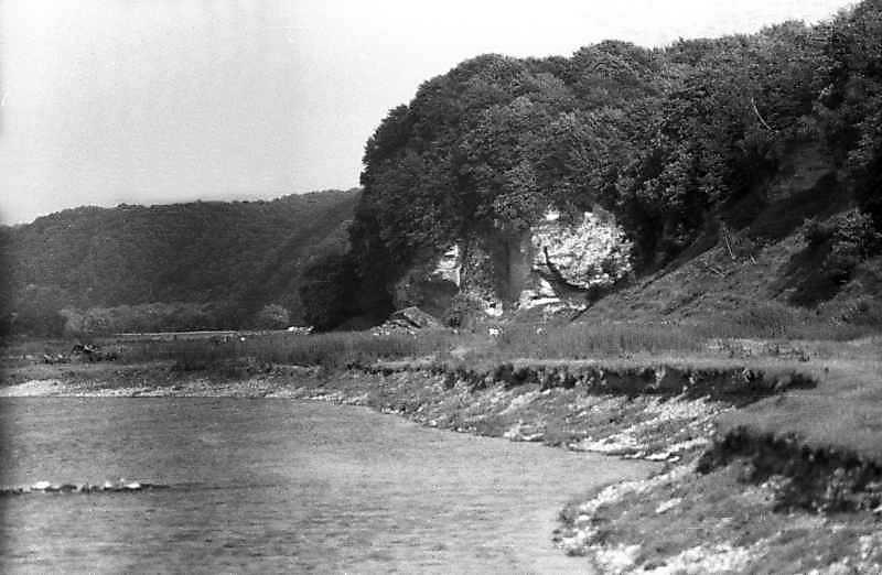 1993 р. Скелі правого берега Дністра біля Старого Села