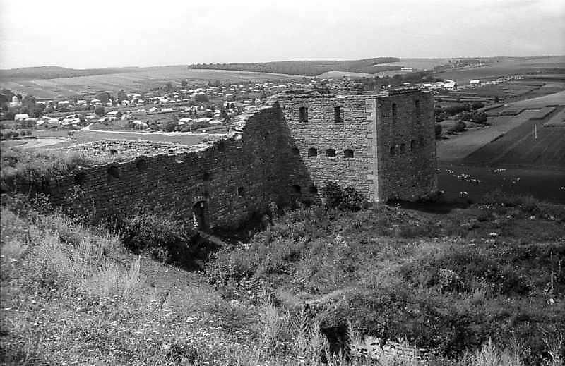 1995 р. Північно-східний мур та північна башта. Вигляд зі сходу