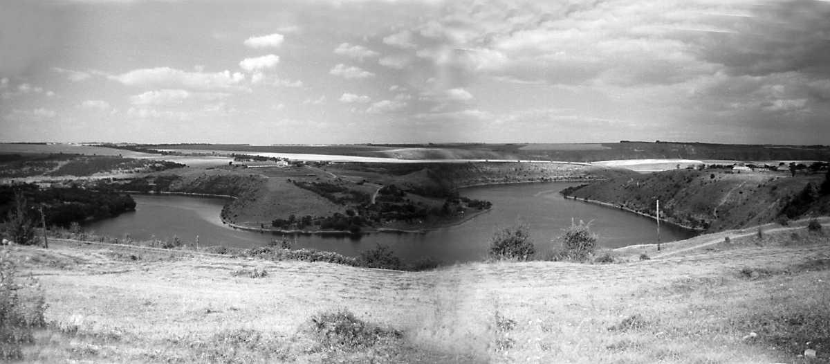 1995 р. Панорама річки Мукша на північ від с.Велика Слобідка