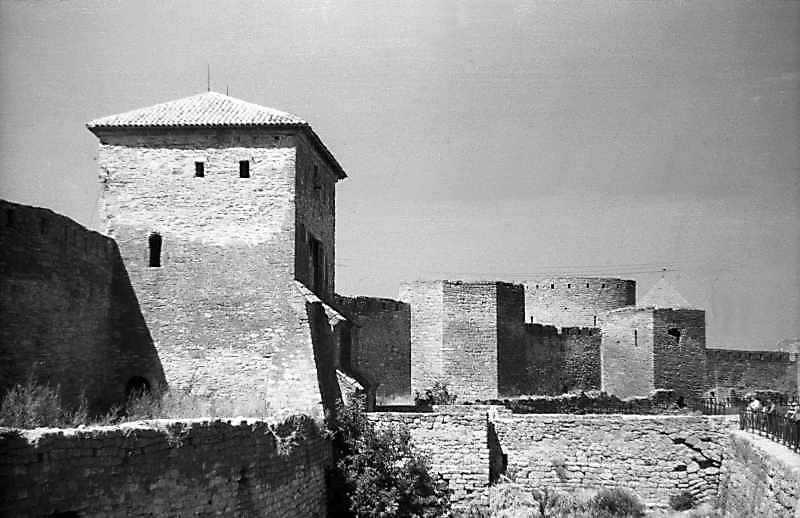 1995 р. Центральна частина східного фронту з баштами 1, 32, 27, 31. Вигляд з південного сходу