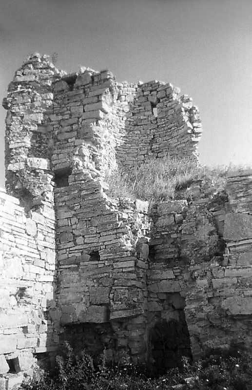 1996 р. Руїни башти і мур 3. Вигляд з північного заходу