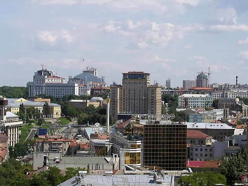 2005 р. Вид на майдан Незалежності