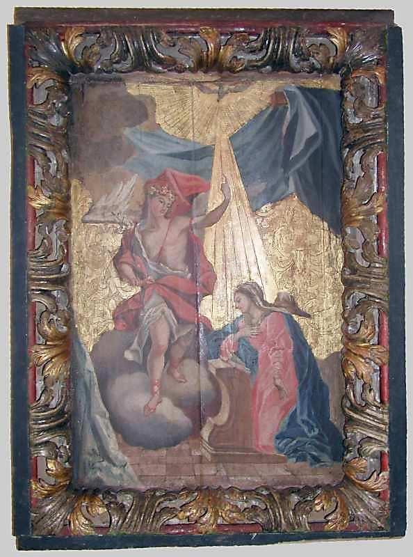 Благовіщення. 18 ст. Дерево, олія, різьблення, позолота