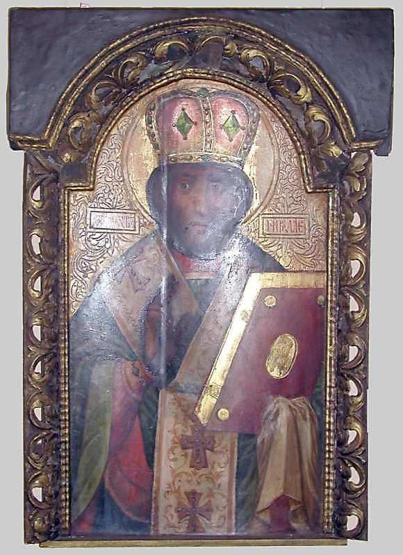 Св.Микола. Кін. 18 ст. Дерево, олія, різьблення, позолота