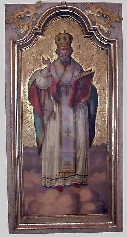 Св.Микола. Кін. 18 – поч. 19 ст. Дерево, олія, різьблення по левкасу, позолота
