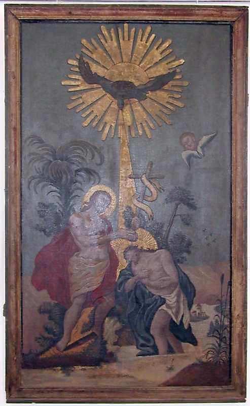 Хрещення. 18 ст. Дерево, олія