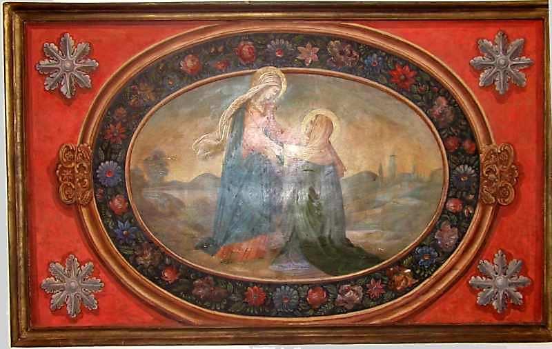 Зустріч Марії і Єлизавети. 18 ст. Дерево, олія
