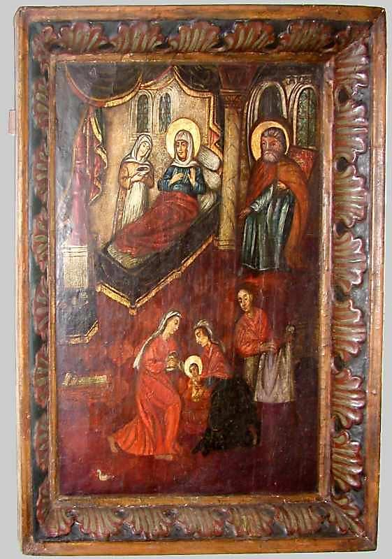 Різдво богородиці. 18 ст. (?) Дерево,…