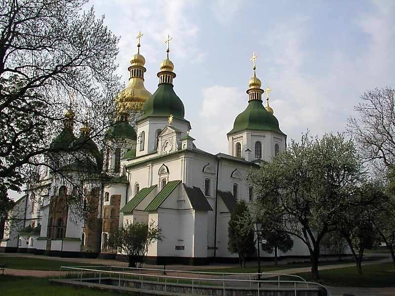 Софийский собор (Киев) - вид с востока
